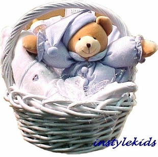 Deluxe Gift Basket - Baby Gift  for Boys