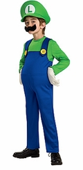 DELUXE LUIGI Costume - GREEN SHIRT