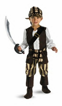 DELUXE Muscle Chest Toddler  Rogue Pirate Costume