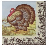 Dinner Napkins - Woodland Turkey Napkins