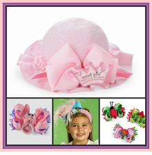 EASTER Hats, Easter Hair Bows, Spring Headbands