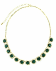 Emerald Green Choker Gold Necklace