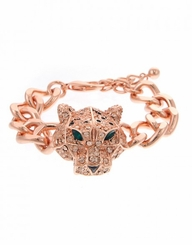Exotic Rose Gold Crystal Tiger Bracelet