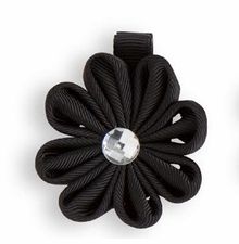 Flower Hair Clip with Crystal Center CHOOSE ONE