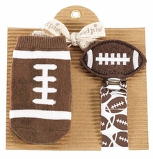 Football Sock and Pacy Set by Mud Pie