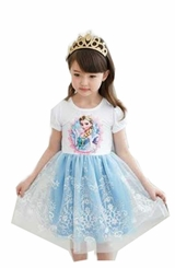 IFK Little Girls Princess Costume Dress - Ice Princess Costume Dress