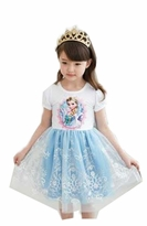 Frozen Inspired Elsa Costume Dress with Princess Crown - Frozen Costume Dress