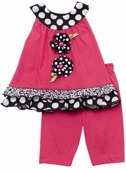 Rare Editions Infant Girls Fuchsia Capri Set  - FINAL SALE