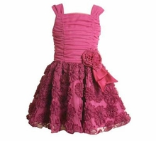 Fuchsia Sleeveless Party Dress  7 - 16