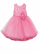 Fuchsia Weaving Bodice Special Occasion Dress