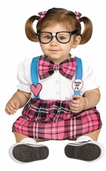 Fun World Baby Girl's Cutie PI Costume Nerd Costume