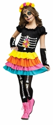 Fun World Big Girls' Day of the Dead Costume