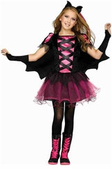 Fun World Girls Bat Queen Gothic Kids Costume