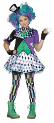Fun World Girls Mad Hatter Halloween Costume