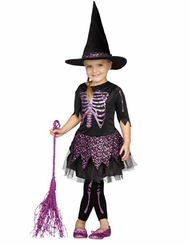 Fun World Girls Skele-Witch Toddler Costume
