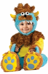 Fuzzy Blue Monster Costume -  ROARING ADORABLE!