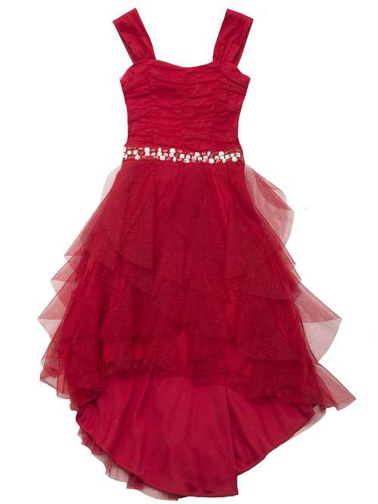 Girl red dress girls hi low party dress sold out