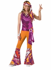 Girl's 70's Costume : Child Girl's Disco Halloween Costume - sold out