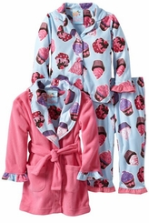 Girl's Hello Cupcake Pajama Set Girl's 3pc set - SOLD OUT