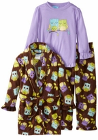 Girl's Pajamas - Sleepy Owl PJ & Owl Robe 3pc Set