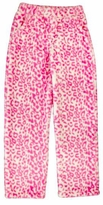 Girl's Pink Leopard Fleece Pajama Pants