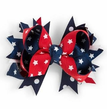 Girl's Ribbon Patriotic Hair Bow - SOLD OUT