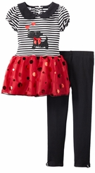 Girl's Scottie Peter Pan Red Tutu Legging Set   FINAL SALE