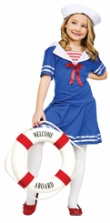 Girl's Sea Sweetie Costume: Tween Girl's Sailor Halloween Costume