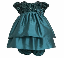 Girl's Special Occasion Dress: Teal Sequin Party Dress - sold out