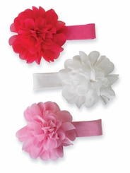 Girl's Stretch Chiffon Flower Headband CHOOSE ONE - sold out