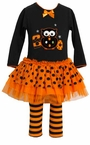 Black Halloween Boo Applique Legging Set