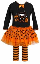 Black Halloween Boo Applique Legging Set - Out of Stock