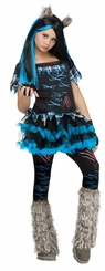 Girl's Wick'd Wolfie Costume: Tween Girl Funky Werewolf  Halloween Costume - sold out