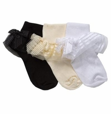 Girls BLACK DRESS SOCKS