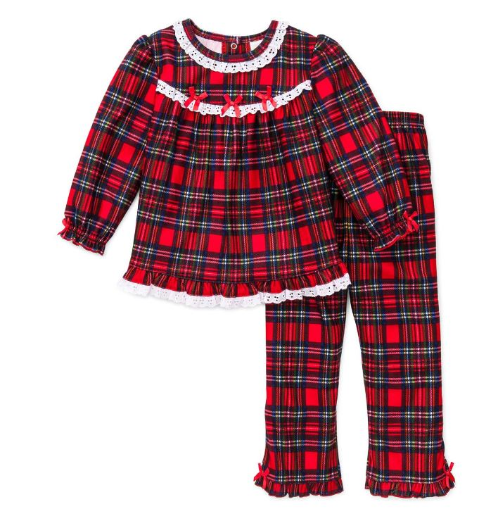 Christmas Pajamas for Kids These pajamas are sets with a slim-fitting shirt and coordinating pants. PJs run true to size and should always be purchased so they sit close to the body for safety from fire.