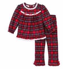Girls Christmas Pajamas - Infant or Toddler Pant Set  12 months to 6X