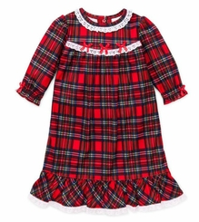 Girls Christmas Pajamas - Toddler Red Plaid Nightgown 12 months - 6X