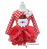 Girls Christmas Santa Pettiskirt Set