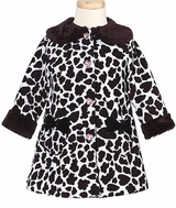 Girls Coats Cow Print Coat