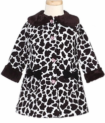 Girls Coats Cow Print Coat  FINAL SALE SIZE 6