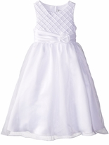 Girls Communion Dress - White Lattice Bodice Ballerina Dress Flower Girl or Girls Communion Dress
