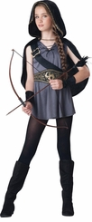 Girls Costume : Hooded Huntress Costume