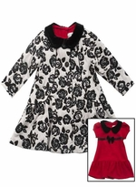 Little Girls Dress Coat Set - 2pc Red Dress Set