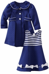 Girls Dress Newborn to Toddler  : Royal Coat and Dress Set  SOLD OUT