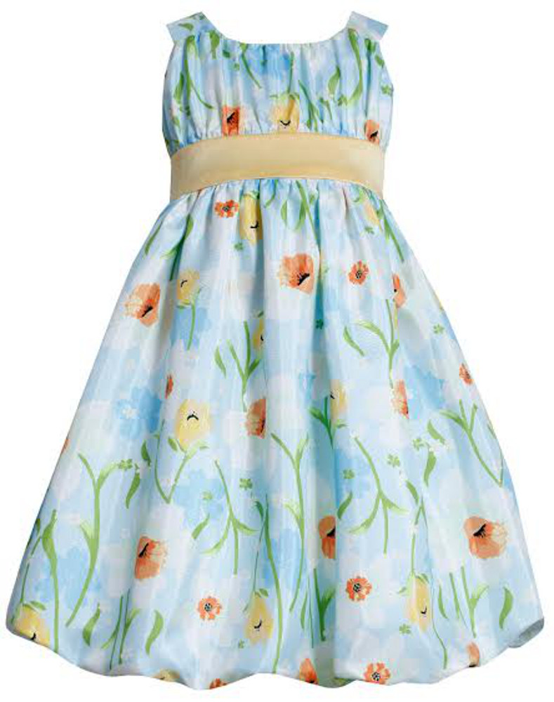Bonnie Jean Girls Easter Dress Aqua Floral Dress 4 at Sears.com