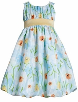 Girls Easter Dress Aqua Floral Dress