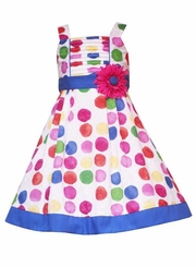 Girls Easter Dress - Multi-Color Circles - SOLD OUT