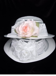 Girls Easter Hat   - White