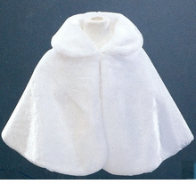 Girls Faux Fur Stole - OFF WHITE