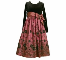 Girls Formal Dress - Rose Embroidered SOLD OUT